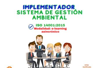 2. Implementador Avanzado SGA ISO 14001:2015 (e-learning asincrónico)