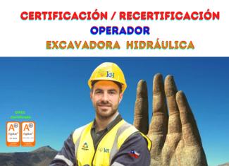 z. Certificación de Operador de Excavadora Hidráulica.