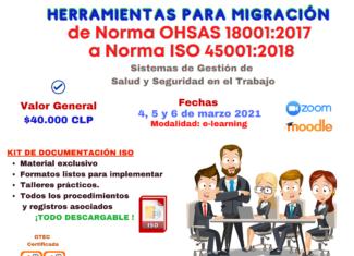 Herramientas para migración Norma OHSAS 18001:2017 a Norma Int. ISO 45001:2018